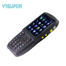 Handheld portable POSprinter receipt printer android wireless pda with bluetooth/3g/wifi/nfc reader barcode scanning(China)