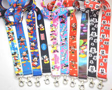 Free Shipping 20/Lot New Mickey Minnie Mouse Lanyard Keys ID Neck Strap