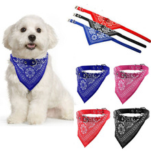 Adjustable Pet Dog Puppy Cat New Fashion Charming Chic Neck Scarf Bandana Leather Collar Neckerchief