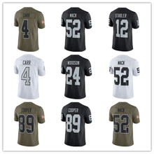Men's Marshawn Lynch Khalil Mack Derek Carr Amari Cooper Ken Stabler Bo Jackson Vapor Untouchable Custom Raiders Jersey(China)