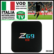 [WeChip] Z69 With 1 Year LuckyTV 2000+Italy IPTV Andriod 7.1 TV Box 2.4G Wifi 10/100M S905X Set Top Box 3/32GB Media Player