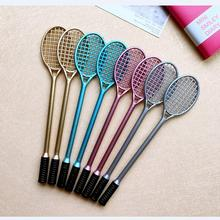 "2018 NEW School Supplies 19cm Length Black ink 0.5mm Ballpoint Pen Creative Stationery ""Badminton Racket"" Canetas Go Sport 4pair"