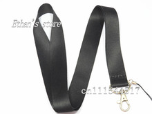 Free Shipping  Black Blank  Key Lanyard  for Customized LOGO Printing Charm neck strap