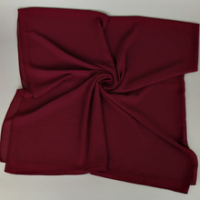 H1183a latest plain big size bubble chiffon muslim square scarf, big size head wrap,can choose colors, free shipping