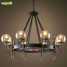 New LOFT American Industrial MODO Chandelier Suspension Chain Ceiling Hanging LED Glass Ball lighting Living Room Diningroom