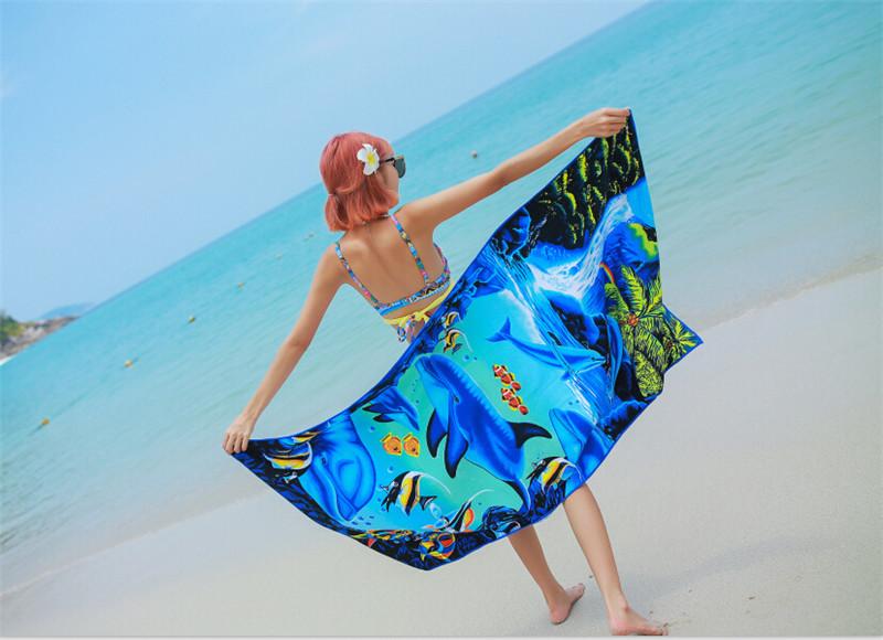 Micro Fiber Printed Beach Towel 140*70cm 39