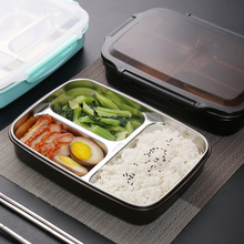 TUUTH Stainless Steel Lunch Box Large-capacity Microwave Heating Portable Dinne Food Containers For Picnic Office School(China)