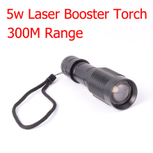 5w Laser Flashlight 300M Range Available Laser Torch Infared LED Torch Booster Tactical Torch for Hunter(China)