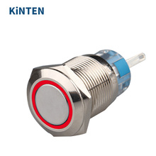 19mm 12V Car SUV truck Blue LED Light Angel Eye Momentary Stainless Steel Metal Auto locking Push Button Switch Plug