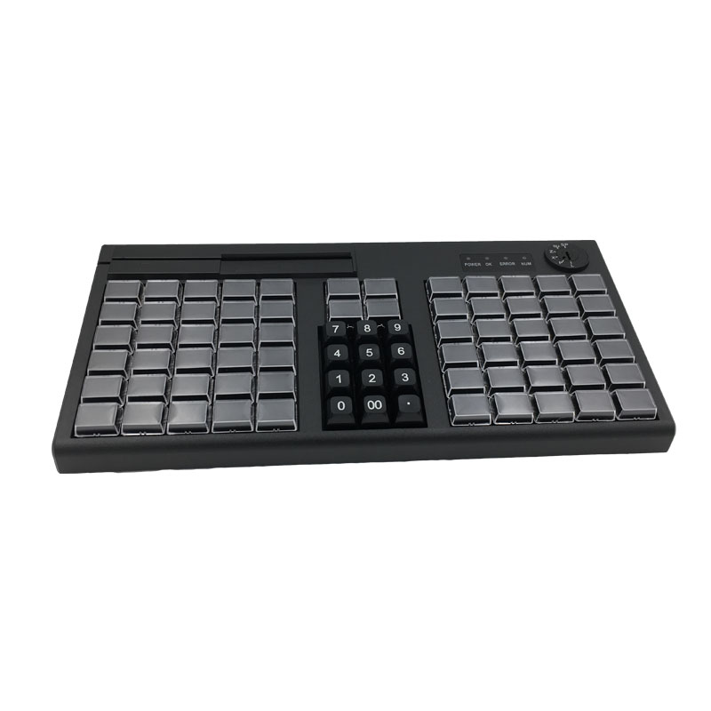 KB76 76 Keys POS Programmable Keyboard With MSR Optional USB/PS2 Rich Interfaces For Choice
