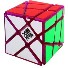 CuberSpeed MoYu Crazy Fisher Cube Transparent Purple Magic cube limited edition CrazyYileng Cube Transparent Purple Puzzle