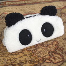 1 Pcs Lovely Pencil case 3D plush panda pencil case large capacity school supplies novelty item for kids multifunctional