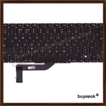 Original New A1398 UK Keyboard For Apple Macbook Pro 15'' Retina A1398 Keyboard UK Standard Replacement 2012-2015