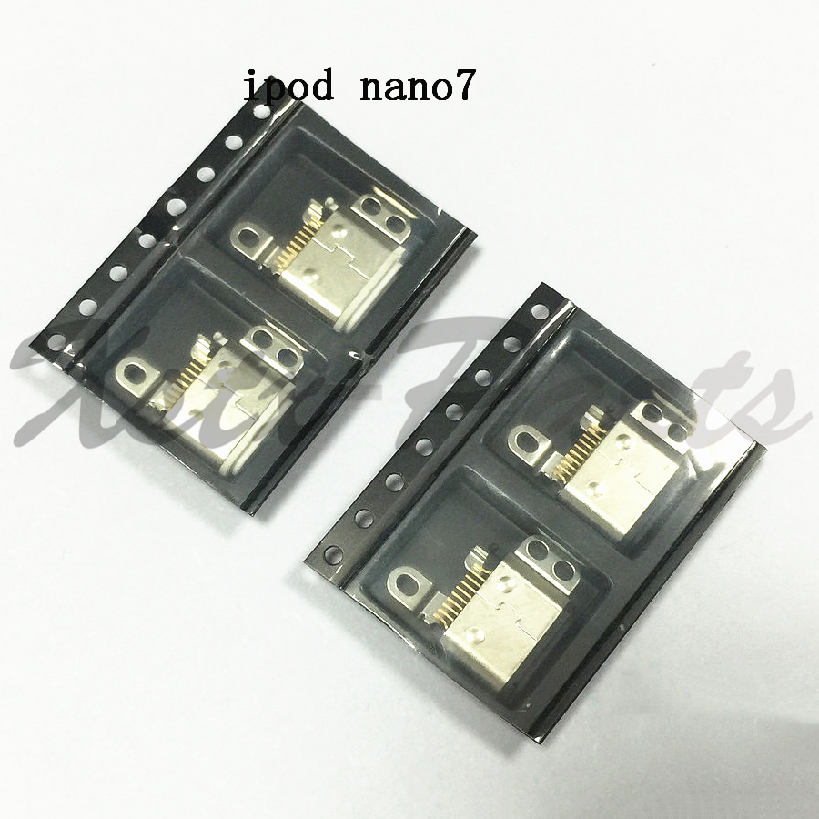 10PCS/lot Genuine New USB Charging Port Charge Dock Connector White/Black for iPod Nano 7 7th Gen Repair Part(China)