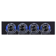 "3.5"" Fan Speed Controller STW-6002 PC Case Floppy Position 4 channel Fan Control via Control Knobs with Blue LED Light"