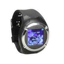 Black 1.5inch Touch Screen Unlocked GSM Camera FM MP3 GPRS Watch Cell Phone