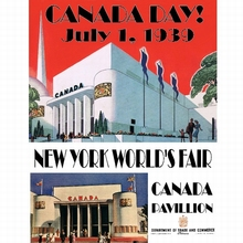 New York World's Fair Canada Day Vintage Poster Retro Decorative DIY Wall Stickers Art Home Bar Posters Decor Gift(China)