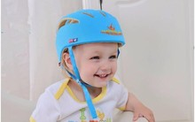 Baby Safety Helmets cute Cotton Infant Protective Hat newest Crashproof Anti-shock Hat blue color