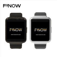 "Finow Q1 Smart Watch 1.54"" Display Android 5.1 WiFi GPS 3G Bluetooth Smartwatch Support NANO Sim Card Clock Phone"