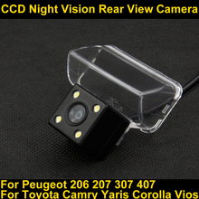 For Toyota Camry Verso EZ 2012 Yaris 2013 Corolla Vios 2014 Peugeot 206 207 307 Car Night Vision Backup Reverse Parking Camera