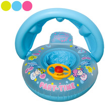 Summer Baby Inflatable Swim Ring With Steering Wheel And Sun Visor Kids Safety Bathing Boat Infant Swimming Circle B2Csh