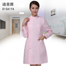 Long-sleeve nurse garment  winter stand collar thick  female o-neck  coat  Physician Services lab coats white blue pink  colorS