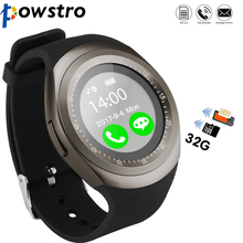 Powstro Y1 Bluetooth Wearable Smart Bracelet Watch Support for Whatsapp Facebook SIM TF Card Installation for Android Smartphone(China)