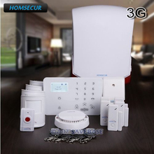 HOMSECUR Wireless WCDMA-3G/GSM Home Security Pet-Immune/Friendly Alarm System(China)