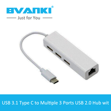 [Bvanki Type-C] China Wholesale Suppliers Wholesale AlloyType-C 3.1 Cable USB3.1 TYPE-C RJ45 Ethernet LAN Adapter For Phone