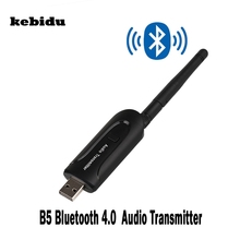 kebidu USB 3.5mm Wireless Bluetooth 4.0 A2DP Stereo Music Audio Transmitter Sender for Laptop PC TV Bluetooth Speaker Earphone(China)