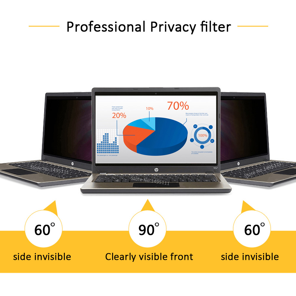 15.6 inch (344mm*194mm) Privacy Filter For 16:9 Laptop Notebook Anti-glare Screen protector Protective film 3