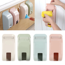 Home Plastic Wall Mount Carrier Bag Storage Container Holder Organizer Fit conveniently in cabinet doors, saving places.(China)
