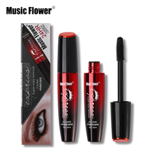 Brand Makeup Music Flower Waterproof 3D Mascara Eye Lashs Thick Curling Volume Black Mascara Eyelash Long Lasting Cosmetics
