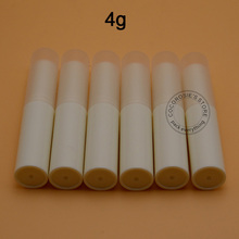 (100pieces/lot)Empty beige lipstick tube Plastic slim lip balm tube 4g Korea style lipstick tube high quality