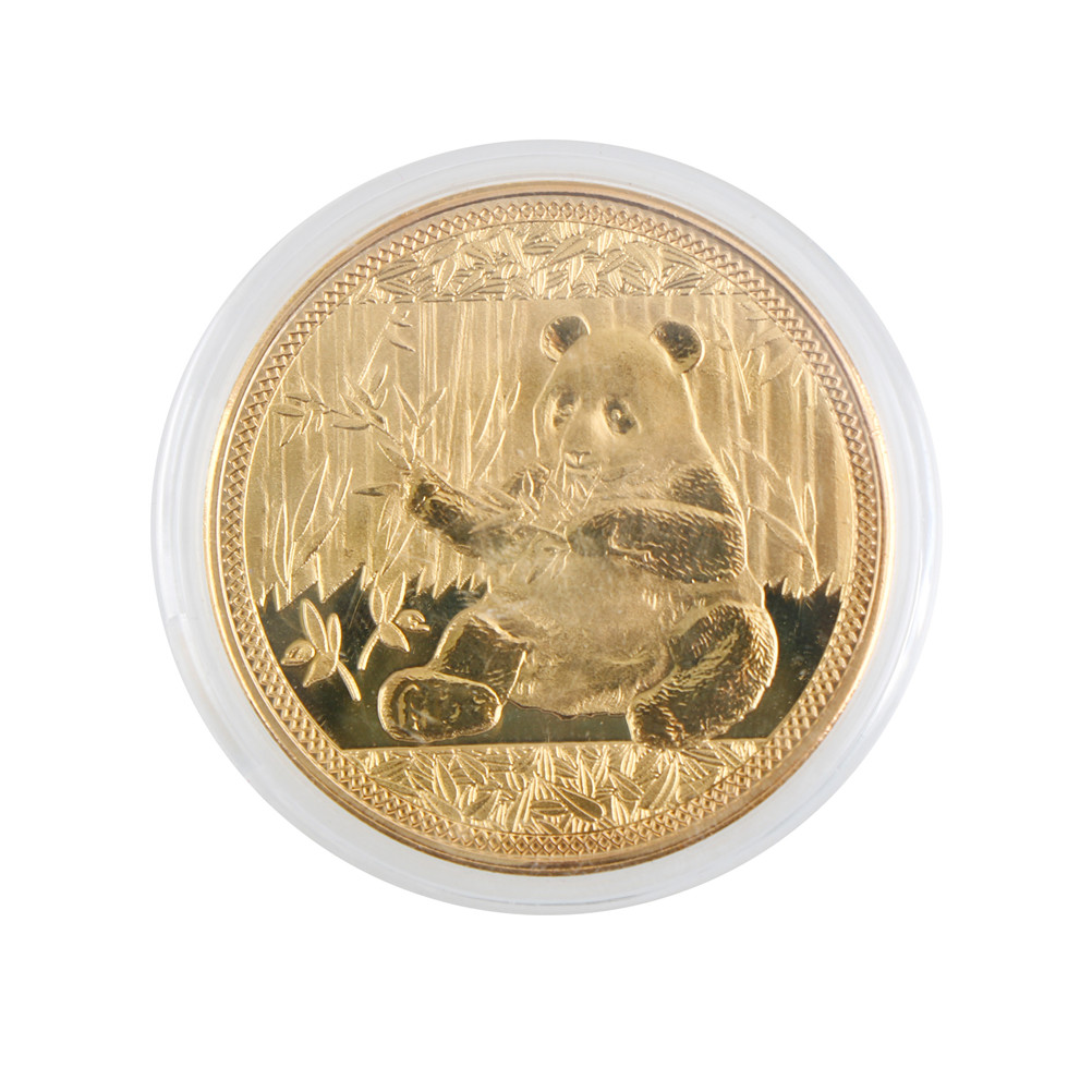 1PCS Wholesale Gold color Big Panda Baobao Commemorative Non-currency Coins Collection Art Gifts