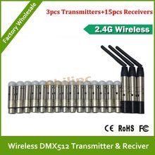 Hot sale 18pcs/lot DHL Free Shipping Wholesale High Qulity wireless DMX controller ,DMX512 Wireless Controller for stage light(China)
