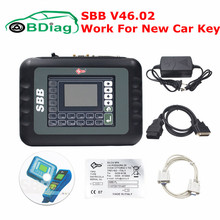 Newest Slica SBB V46.02 Programming New Key In Immobilizer Copy Transponder Chip Better Than SBB Key Programmer V33.02 Free Ship(China)