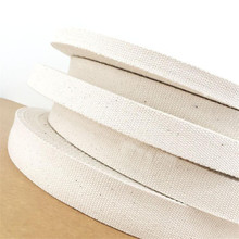 New 15mm/20mm/25mm/30mm/38mm 10 meter Beige Canvas Ribbon Belt bag webbing/label ribbon/Bias binding tape Diy craft projects(China)