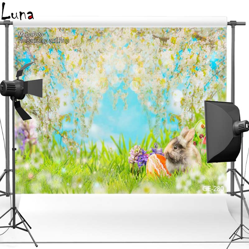 Happy Easter Rabbit Vinyl Photography Background For Baby Flower Scenic Oxford Backdrop For Children photo studio Props 280<br><br>Aliexpress