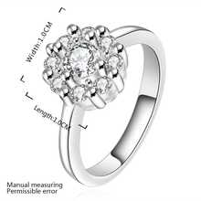 Wholesale Free Shipping silver plated Ring,silver plated Fashion Jewelry big white stone smile Ring SMTR520