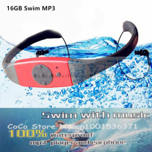 8GB 4G Waterproof MP3 IPX8 Music Player Underwater Sports Neckband Swimming Diving with FM Radio Earphone Stereo Headphone mp3