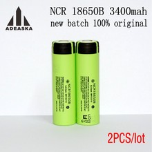 2PCS ADEASKA 100% Original 3.7V NCR 18650B 3400mAh Rechargeable Batteries For Panasonic 18650 Battery/Power Bank/Flashlight