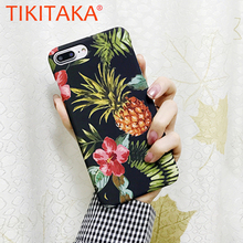 Buy Retro Art Cartoon Pineapple Painting Phone Cases iphone X 8 7 6 6s 5 5S SE Case Plus Ultra thin Hard Plastic PC Cover Shell for $1.29 in AliExpress store