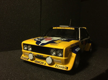 * 1:18 Fiat 131 miafori abhord 7# Race Car Alloy Scale Models Classic toys Car Replica Miniature