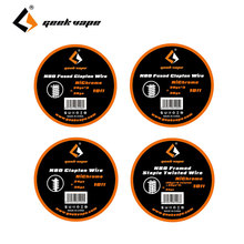 Original 10ft GeekVape N80 Framed Staple Twisted Wire/N80 Fused Clapton Wire E-cig DIY Coil Wire for RDA/RTA/RDTA Atomizer Coil(China)