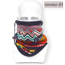 Print Winter Neck Warmer Unisex Polar Fleece Snood Scarf Skiing Snowboarding Wear Hat Mask(China)
