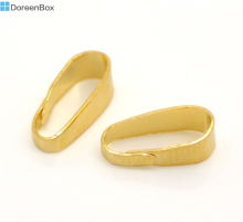 "Doreen Box Lovely Gold color Clip Bail 11x4mm(3/8""x1/8""), sold per lot of 300 (B16873)"