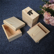 Zakka Small Wooden Box With Separate Lid  For Festival Gift Card Box Or Jewelry Package Watch Box  Inner Size 3 Style To Choose