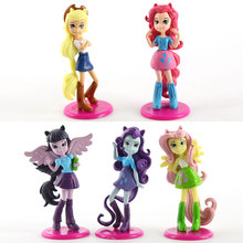 5.5cm 5PCS/LOT Equestria Girls Dolls anime cartoon action figure set kids toys for girls