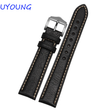 High Quality Genuine Leather Watch band 18mm 20mm 22mm 24mm Black Brown Watch Accessories All Brand General